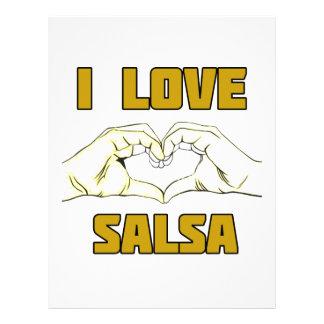 salsa dance design letterhead