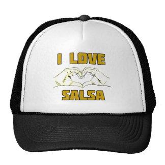 salsa dance design trucker hat