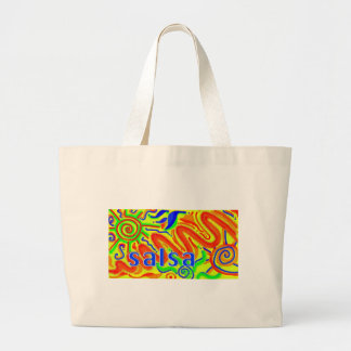 Salsa dance fun large tote bag