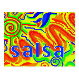 Salsa dance fun - postcard