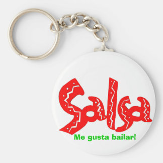 Salsa Dance Logo Products! Basic Round Button Keychain