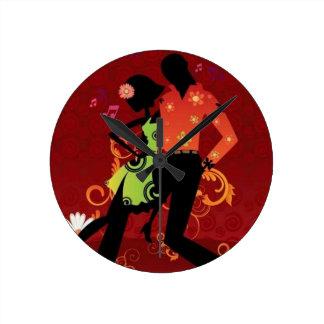 Salsa dance round clock