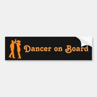 Salsa Dance Spin Dancing Silhouette Bumper Sticker