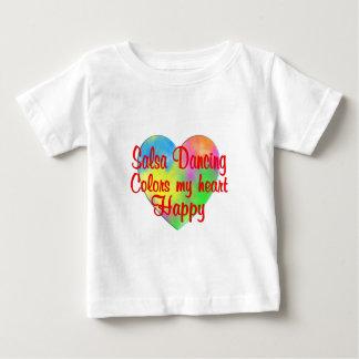Salsa Dancing Colors My Heart Happy Baby T-Shirt