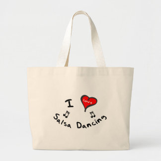 Salsa Dancing Gifts - I Heart Salsa Dancing Large Tote Bag