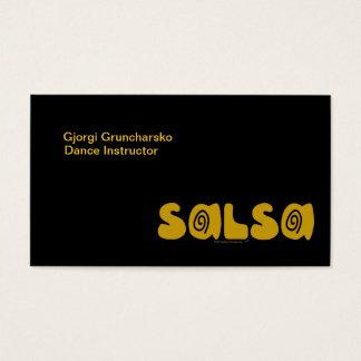 Salsa Dancing Gold Swirls Customizable Business Card