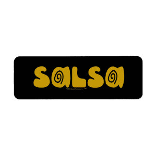 Salsa Dancing Gold Swirls Customizable Return Address Label