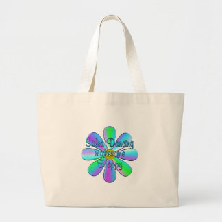 Salsa Dancing Happy Large Tote Bag