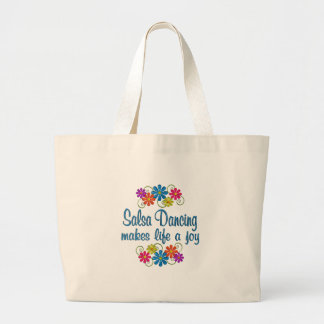 Salsa Dancing Joy Large Tote Bag