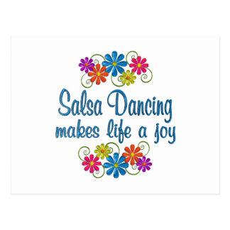 Salsa Dancing Joy Postcard