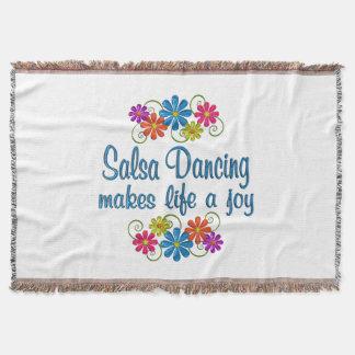 Salsa Dancing Joy Throw