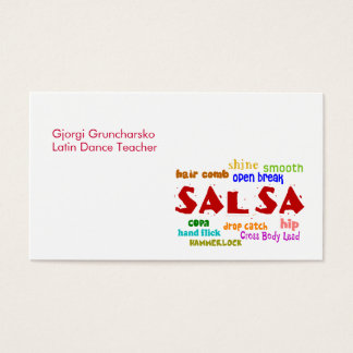 Salsa Dancing Latin Dance Teacher or Dancer Business Card