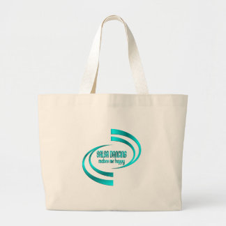 Salsa Dancing Makes Me Happy Large Tote Bag