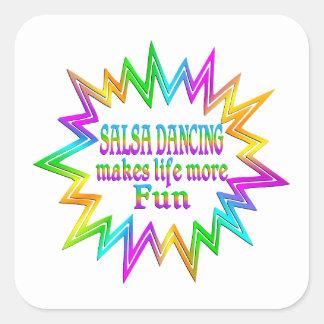Salsa Dancing More Fun Square Sticker