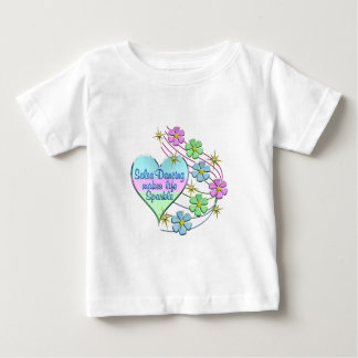 Salsa Dancing Sparkles Baby T-Shirt