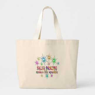 Salsa Dancing Sparkles Large Tote Bag