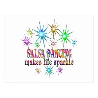 Salsa Dancing Sparkles Postcard