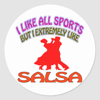 Salsa designs classic round sticker