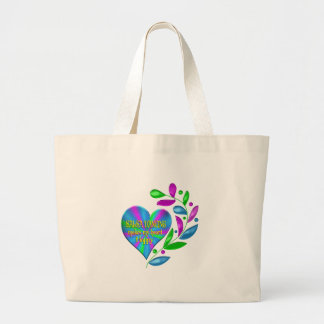 Salsa Happy Heart Large Tote Bag