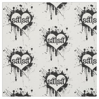 Salsa heart fabric - for any salsera