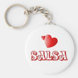 Salsa Hearts Keychain