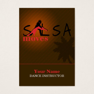 Salsa Moves - Business-, Schedule Card