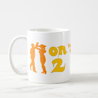 Salsa On Two Dancing Silhouettes Customizable Coffee Mug