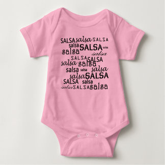 SALSA pattern body for salsera or salsero baby Baby Bodysuit