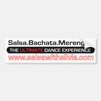 Salsa With Silvia Bumper Sticker