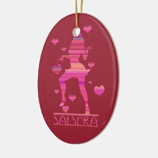 SALSERA - HOT DANCING GIRL CERAMIC ORNAMENT
