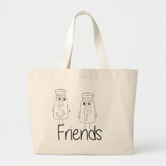 Salt and Pepper - Friends Large Tote Bag