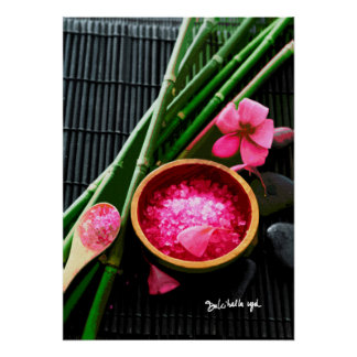 SALT BAMBOO AND FLOWERS POSTER