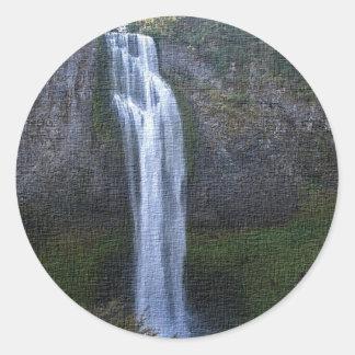 Salt creek Falls, Oregon Artwork Round Sticker