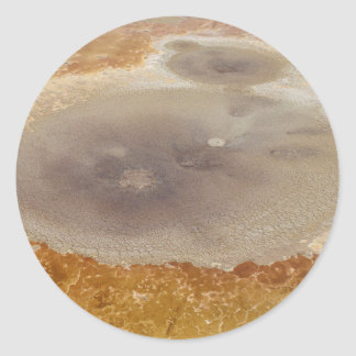 Salt formations on the Dead Sea surface Round Sticker