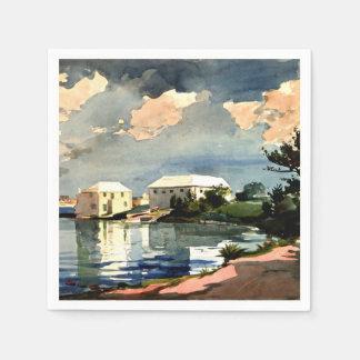 Salt Kettle, Bermuda - Winslow Homer painting Paper Napkins