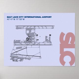 Salt Lake City Airport (SLC) Diagram Poster