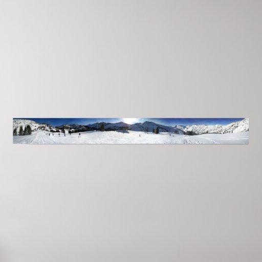 Salt Lake City Alta Ski Resort Poster