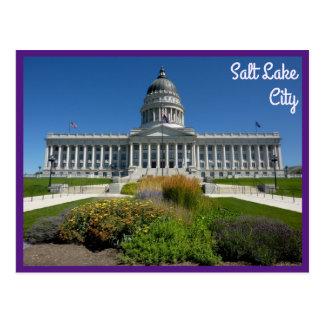 Salt Lake City Capitol Building (Utah) with text Postcard