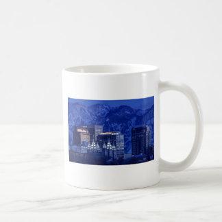 Salt Lake City Downtown Winter Skyline Coffee Mug