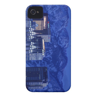 Salt Lake City Downtown Winter Skyline iPhone 4 Case-Mate Cases