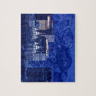 Salt Lake City Downtown Winter Skyline Puzzle