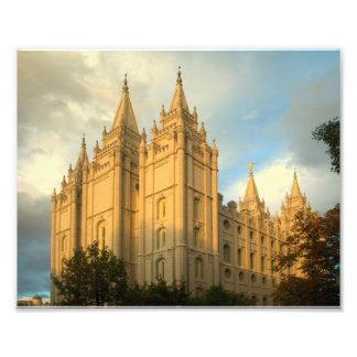 Salt Lake City LDS Temple Photo Print