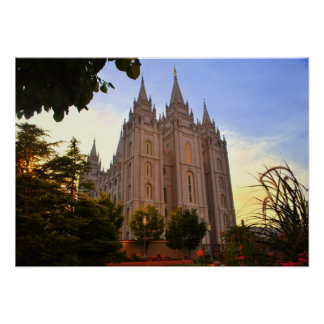 Salt Lake City, LDS Temple Poster