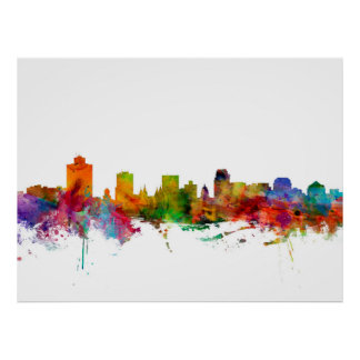 Salt Lake City Skyline Poster