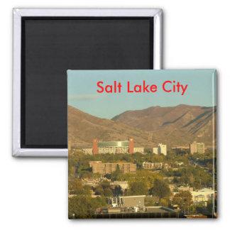 Salt Lake City Square Magnet
