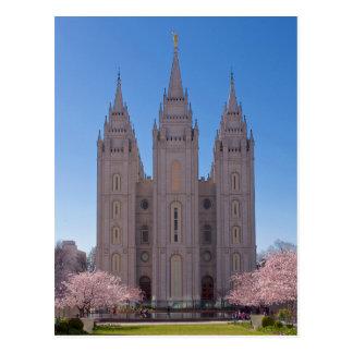 Salt Lake City Temple in Spring. Postcard