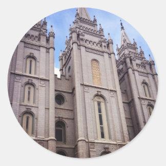 Salt Lake City Temple Round Sticker