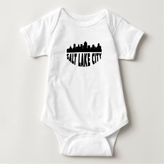 Salt Lake City UT Cityscape Skyline Baby Bodysuit