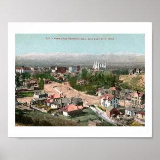Salt Lake City, UT, Prospect Hill Vintage Poster