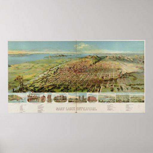 Salt Lake City, Utah 1891 Posters